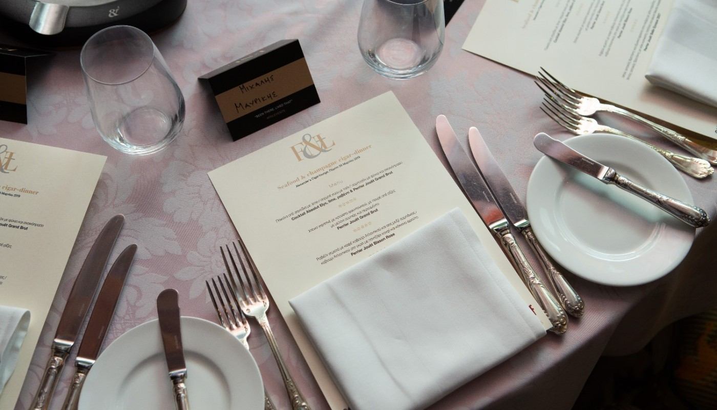 seafood & champagne cigar dinner Alexander`s | The Food & Leisure Guide